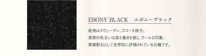 EBONY BLACK / エボニーブラック